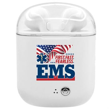 EMS: First. Fast. Fearless Bluetooth� Earbuds In Charging Case