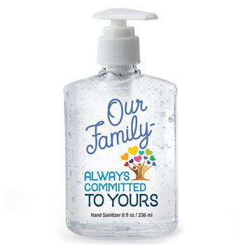 Our Family: Always Committed To Yours 8-oz. Hand Sanitizer Gel Pump