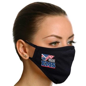 EMS: First. Fast. Fearless. 2-Ply 100% Cotton Mask - Increments of 10