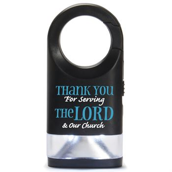Thanks You For Serving The Lord & Our Church Journey LED Carabiner Flashlight
