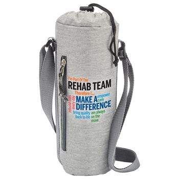 I'm Part Of The Rehab Team Therefore I... Insulated Bottle Cooler Sling