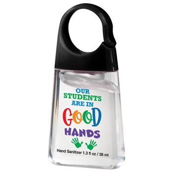 Our Studnts Are In Good Hands 13-oz. Sanitizer with Carabiner Clip