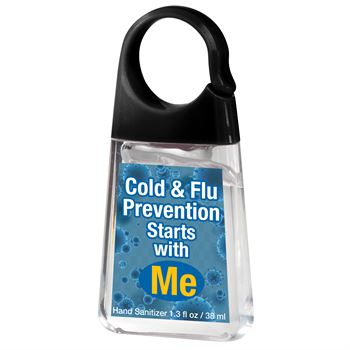 Cold & Flu Prevention Starts With Me Hand Sanitizer With Carabiner Clip