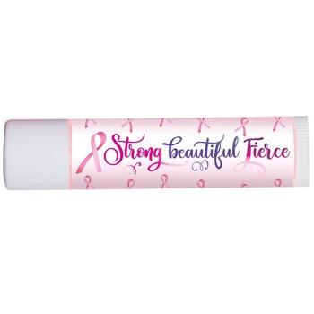 Strong, Beautiful, Fierce Breast Cancer Awareness Lip Balm - Pack of 10