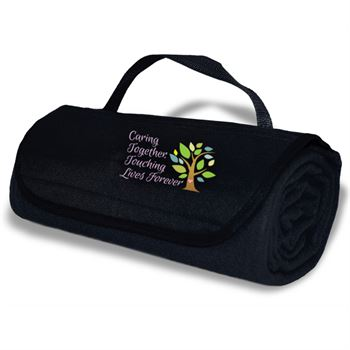 Caring Together, Touching Lives Forever Roll-Up Blanket