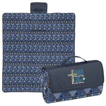 Thank You For Serving The Lord & Our Church Fleece Picnic Blanket