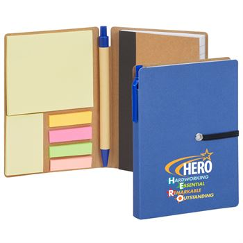 Hero: Hardworking, Essential, Outstanding Jotter With Sticky Notes & Pen