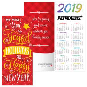 We Wish You Joyful Holidays and A Happy New Year 2020 Holiday Greeting Card Calendar - Personalization Available