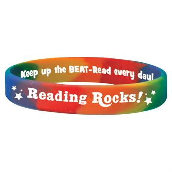 Reading Rocks! Silicone Bracelets - Pack of 10