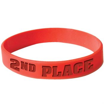 2nd Place Award Silicone Bracelets