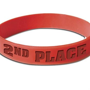 2nd Place Award Silicone Bracelets (Red)