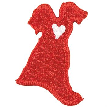 Embroidered Red Dress Sticker Roll