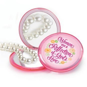 Women Are A Reflection Of God's Love Pink Compact Mirror