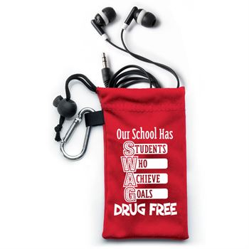 Our School Has SWAG! Drug Free Earbuds In Pouch