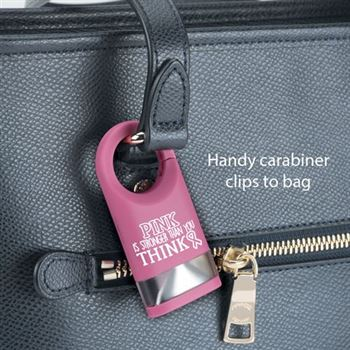 Pink Is Stronger Than You Think LED Carabiner Flashlight Lamp