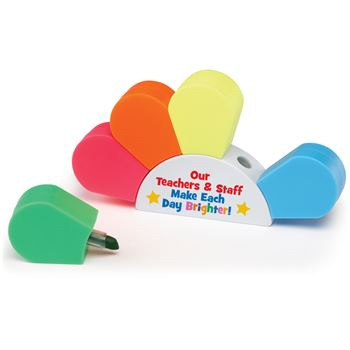 Our Teachers & Staff Make Each Day Brighter! Sunrise 5-Pc. Highlighter Set