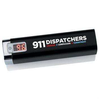 911 Dispatchers Metal Power Bank With Digital Power Display