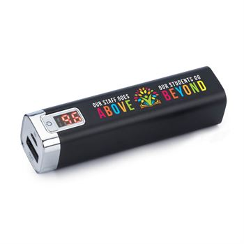 Our Staff Goes Above, Our Students Go Beyond Metal Power Bank With Digital Power Display