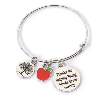 Thanks For Helping Young Minds Grow Charm Bracelet