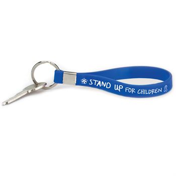 Stand Up For Children Silicone Key Tag Bracelet