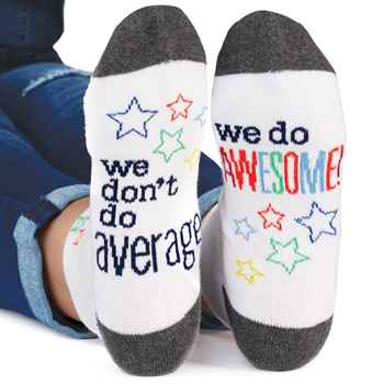 We Dont Do Average, We Do Awesome Womens Cushioned Ankle Socks