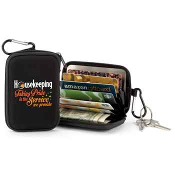 Housekeeping: Taking Pride In The Service We Provide Identity Guard Wallet with Carabiner
