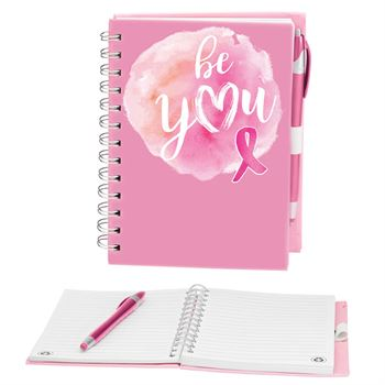 Be You Pink Ribbon Notebook & Stylus Pen Set