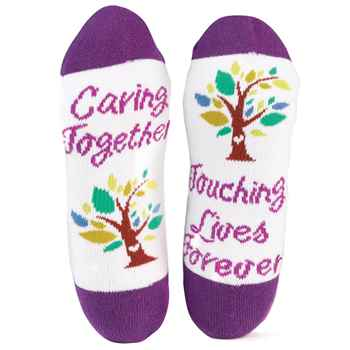 Caring Together, Touching Lives Forever Toe-tally Awesome Socks