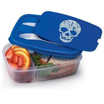 Radiology Skull Word Cloud 2-Section Food Container With Utensils