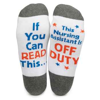 If You Can Read This, This Nursing Assistant Is Off Duty Cushioned Ankle Socks