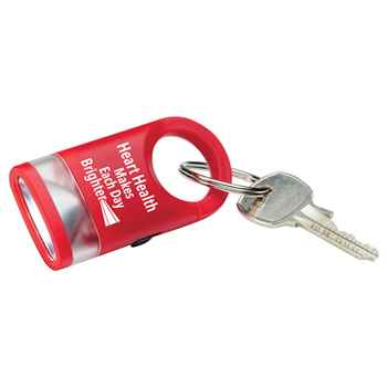Heart Health Makes Each Day Brighter LED Carabiner Flashlight Lamp