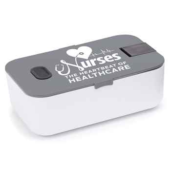 Nurses: The Heartbeat Of Healthcare Food Container with Smartphone Holder