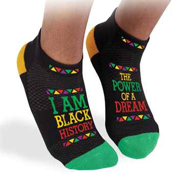 I Am Black History: The Power Of A Dream Ankle Socks