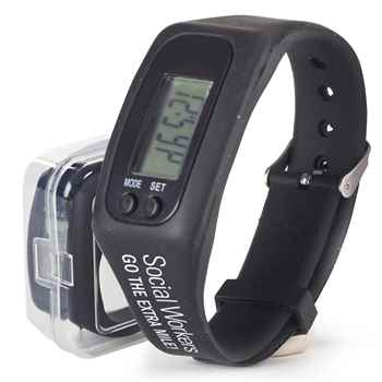 Social Workers Go The Extra Mile! Fitness Watch Pedometer