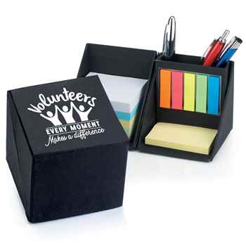 Volunteers: Every Moment Makes A Difference Recycled Note Cube Caddy