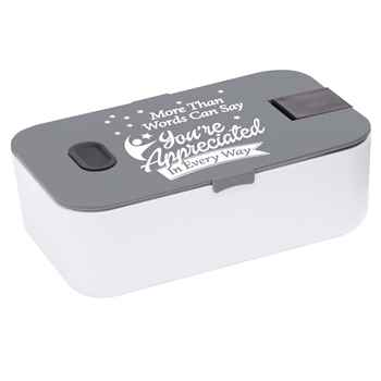 More Than Words Can Say You're Appreciated In Every Way Food Container With Smartphone Holder