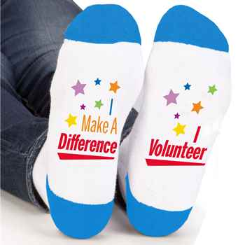 I Make A Difference I Volunteer Ankle Socks Star Design