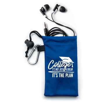College: It's Not Just A Dream, It's The Plan™ Earbuds In Pouch