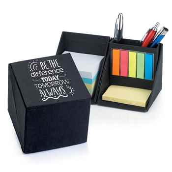 Be The Difference Today, Tomorrow, Always Recycled Note Cube Supply Caddy