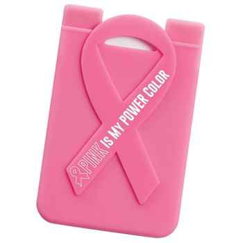Pink Is My Power Color Pink Ribbon Phone Wallet With Awareness Card