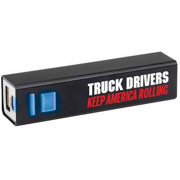 Truck Drivers Keep America Rolling Metal Power Bank