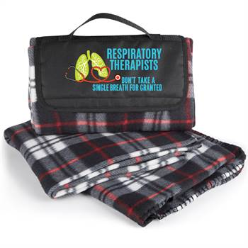 Respiratory Therapists Don't Take A Single Breath For Granted Plaid Fleece Blanket