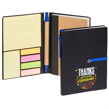 Thanks For Being Awesome Jotter With Sticky Notes & Pen