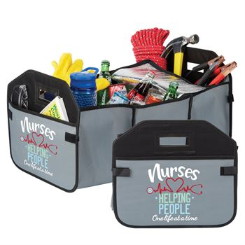 Nurses: Helping People One Life At A Time 2-in-1 Trunk Organizer & Cooler