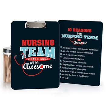 Nursing Team We Don't Do Average We Do Awesome! Clipboard