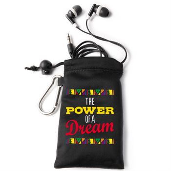 The Power Of A Dream Earbuds In Microfiber Pouch