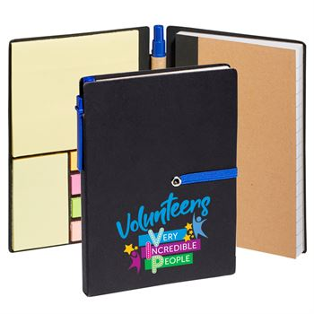 Volunteers: Very Incredible People Jotter With Sticky Notes & Pen