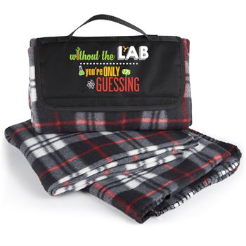 Without The Lab You're Only Guessing Plaid Fleece Blanket