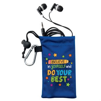 Believe In Yourself And Do Your Best Earbuds In Pouch