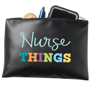 Nurse Things Zippered Vinyl Pouch
